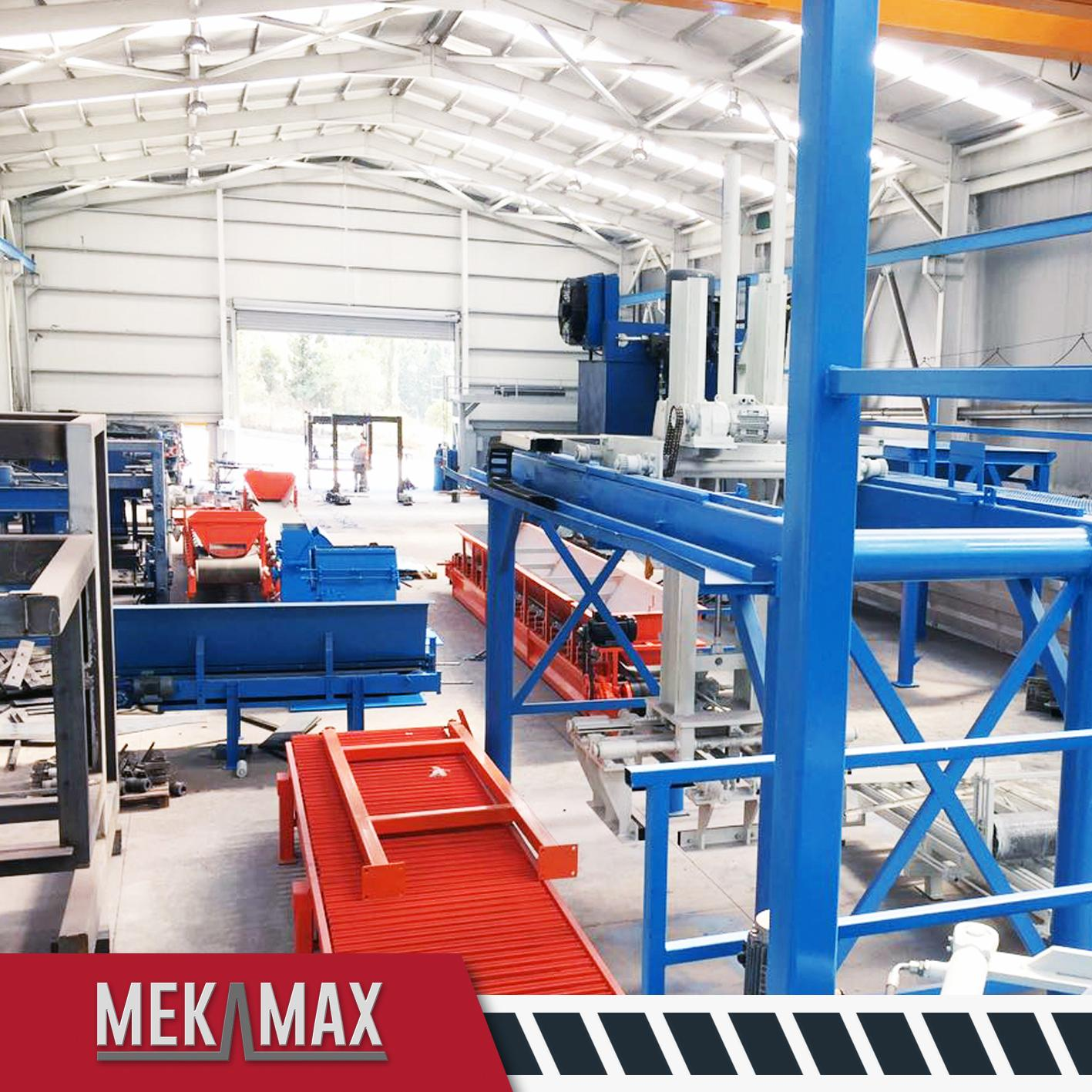 MEKAMAX OPTIMUS CONCRETE BLOCK MACHINE PRODUCTION